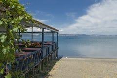 Het meer van Bracciano, Lazio, Italië Royalty-vrije Stock Foto's