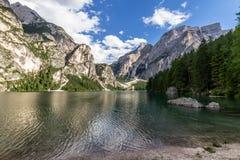 Het meer van Braies Royalty-vrije Stock Fotografie