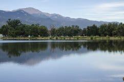 Het Meer van Colorado Springs Memorial Park Royalty-vrije Stock Fotografie