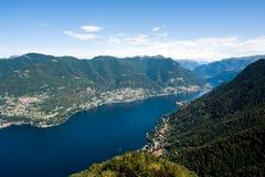 Het meer van Como in Italië Stock Foto's