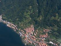 Het meer van Como - Lezzeno Stock Foto's