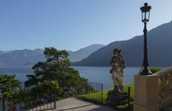 Het Meer van Como - Villa Balbianello Royalty-vrije Stock Afbeelding