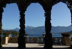 Het Meer van Como - Villa Balbianello Stock Foto