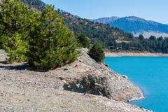 Het Meer van de Aooslentes in Metsovo in Epirus bergen van Pindus in noordelijk Griekenland stock foto's