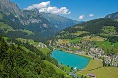 Het meer van de berg in Engelberg, Zwitserland Stock Fotografie