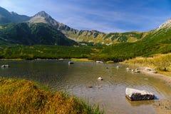 Het meer van de berg, Tatry Bielskie Stock Afbeelding