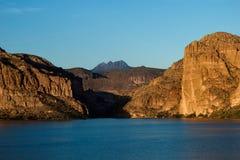 Het meer van de canion Stock Foto