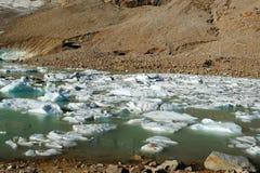 Het meer van de gletsjer royalty-vrije stock afbeeldingen