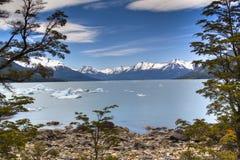 Het meer van de gletsjer in Gr Calafate, Argentinië Royalty-vrije Stock Fotografie