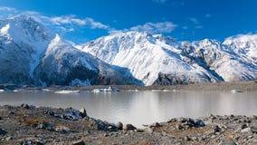 Het Meer van de Gletsjer van Tasman stock foto's