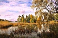 Het meer van de herfst Royalty-vrije Stock Afbeelding