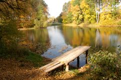 Het meer van de herfst Stock Afbeeldingen