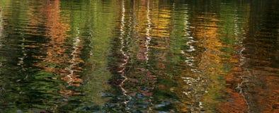 Het meer van de herfst abstarct stock foto