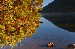 Het meer van de herfst in Maine   Royalty-vrije Stock Foto's
