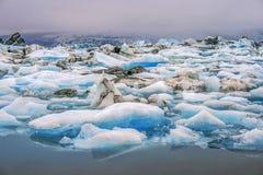 Het meer van de ijsberg Stock Foto