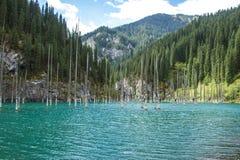 Het meer van de Kolsayberg in Kazachstan Stock Afbeeldingen