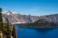 Het Meer van de krater in Oregon Stock Fotografie