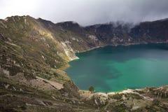Het Meer van de Krater van Quilotoa Stock Foto