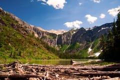 Het meer van de lawine. Het Nationale Park van de gletsjer. Montana Royalty-vrije Stock Afbeeldingen