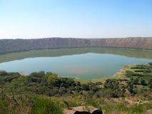 Het meer van de Lonarkrater Royalty-vrije Stock Afbeelding