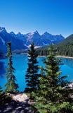 Het meer van de morene Royalty-vrije Stock Afbeeldingen