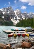 Het meer van de morene, Banff Nationaal Park, Canada Stock Fotografie