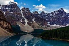 Het Meer van de morene in Nationaal Park Banff Royalty-vrije Stock Foto