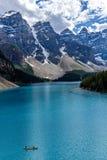 Het Meer van de morene in Nationaal Park Banff Royalty-vrije Stock Fotografie