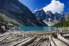 Het meer van de morene toneel Stock Foto
