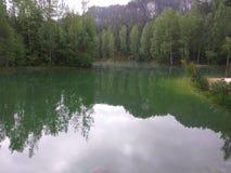 Het meer van de ochtend Stock Fotografie