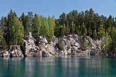 Het meer van de rots, Tsjechische Republiek Royalty-vrije Stock Foto's
