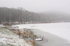 Het meer van de winter royalty-vrije stock fotografie