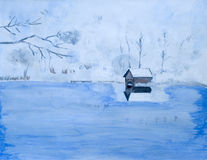 Het Meer van de winter Royalty-vrije Stock Foto's