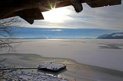 Het meer van de winter Stock Afbeelding