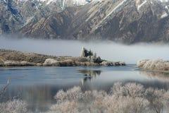 Het meer van de winter, Nieuw Zeeland Royalty-vrije Stock Foto's