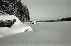 Het meer van de winter - wijnoogst Royalty-vrije Stock Fotografie