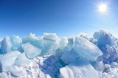 Het meer van de winterbaikal Stock Afbeelding