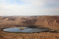 Het meer van de woestijn stock afbeelding