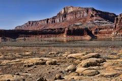 Het Meer van de woestijn Stock Afbeeldingen