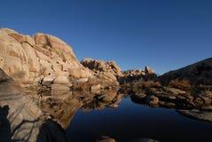 Het meer van de woestijn Royalty-vrije Stock Afbeeldingen