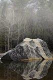 Het meer van de Yosemitespiegel Stock Afbeeldingen