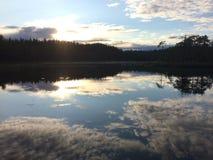 Het meer van de zomer Stock Fotografie