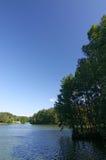 Het meer van de zomer stock afbeeldingen