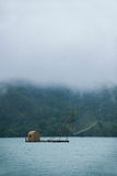 Het Meer van de zonmaan de vissersboot in Nantou-van de Provincie, Taiwan Royalty-vrije Stock Foto's