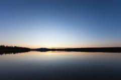 Het Meer van de zonsondergang Royalty-vrije Stock Afbeelding