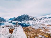 Het meer van Djupvatnet, Noorwegen Royalty-vrije Stock Afbeelding