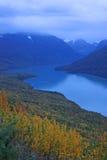 Het meer van Eklutna, Alaska Stock Afbeeldingen