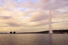 Het meer van Genève Royalty-vrije Stock Foto