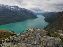 Het meer van Gjende, Jotunheimen NP, Noorwegen Stock Fotografie