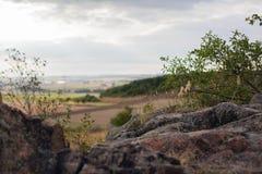 Het meer van Hallstatt in de ochtendmist Stock Fotografie